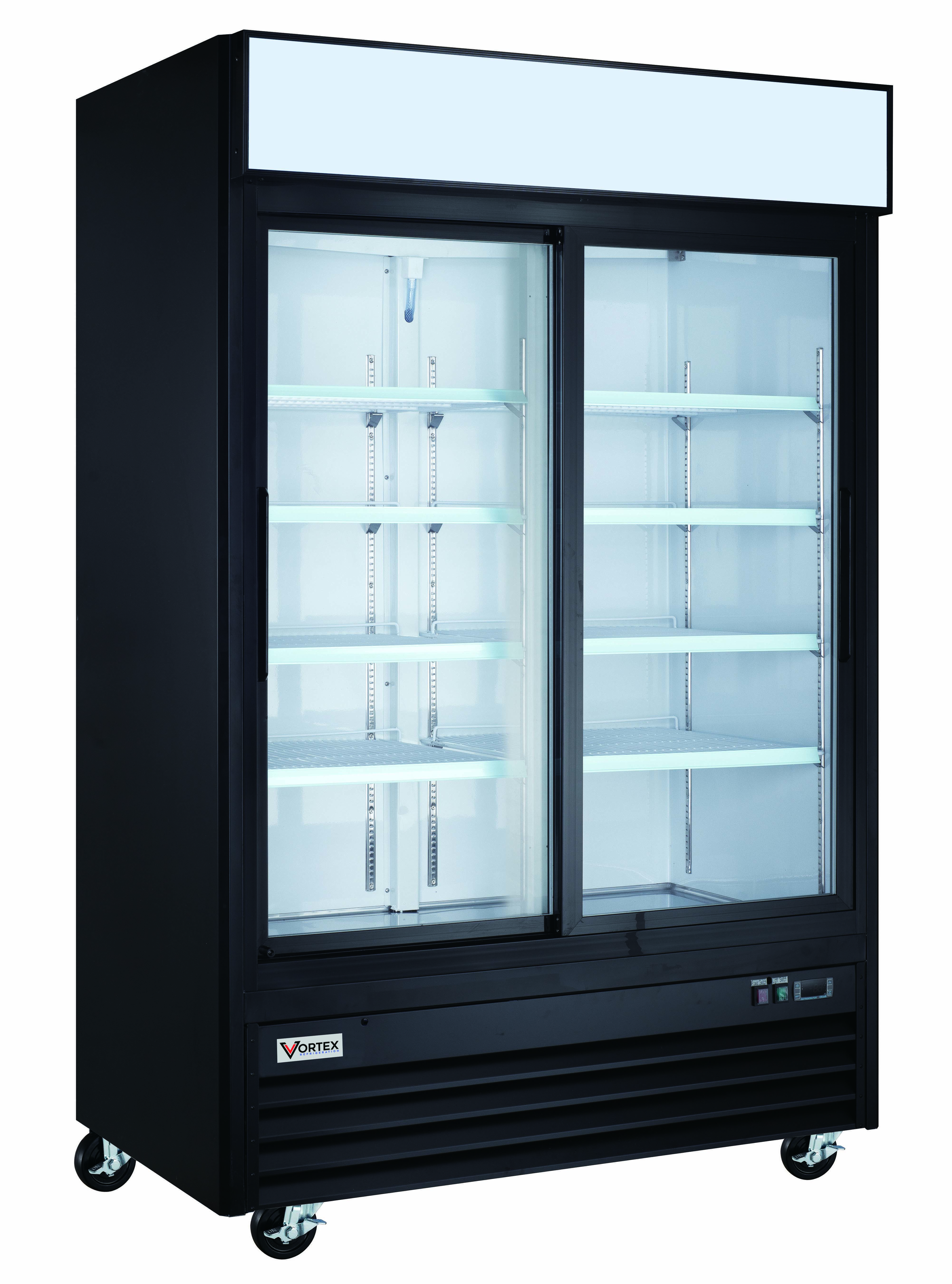 Vortex 2 Sliding Glass Door Merchandiser Refrigerator V