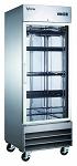 Commercial Stainless Steel 1 Glass Door Reach-In Freezer