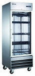 Commercial Stainless Steel 1 Glass Door Reach-In Freezer
