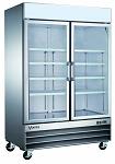 Commercial 2 Glass Door Stainless Steel Merchandiser Freezer