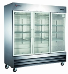Commercial Stainless Steel 3 Glass Door Refrigerator